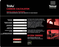 Tensar TriAx™ Demonstrates Aggregate And Carbon Savings For